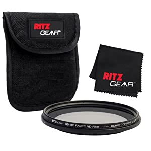 Ritz Gear™ 55mm Premium HD MC Fader ND Filter With SCHOTT OPTICAL GLASS