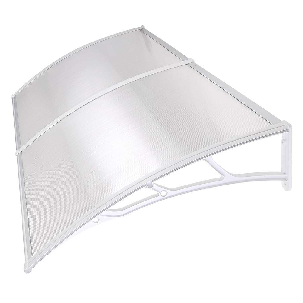 Instahibit 79x40'' Window Awning Front Door Cover UV Rain Snow Protection Outdoor Patio Canopy 2 Whole Hollow Sheets by I Instahibit