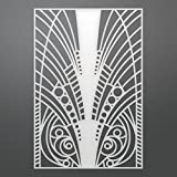 Artdeco Creations Ultimate Crafts The Ritz Background Die-Feathered 3.7''X5.5''
