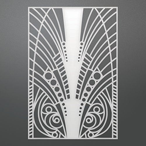 Artdeco Creations Ultimate Crafts The Ritz Background Die-Feathered 3.7''X5.5'' by Artdeco Creations (Image #1)