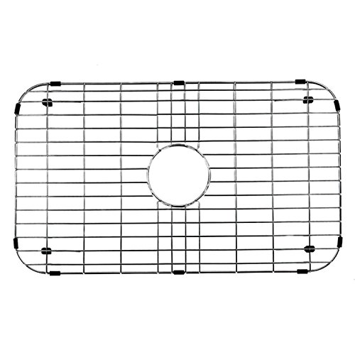 NWC Sink Protector, Metal Grid for Stainless Steel Kitchen Sinks | 26 in X 14 in | Best for Protecting Your Sink (Bottom Stainless Wire Grid Steel)