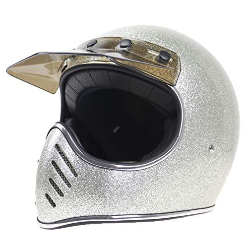 Evin Fiberglass Safety Full Face, DOT Certification,Silver,XXL