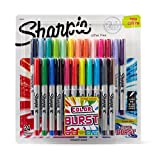 Sharpie Color Burst Permanent Markers, Ultra-Fine Point, Assorted, 24-Pack (1949558)
