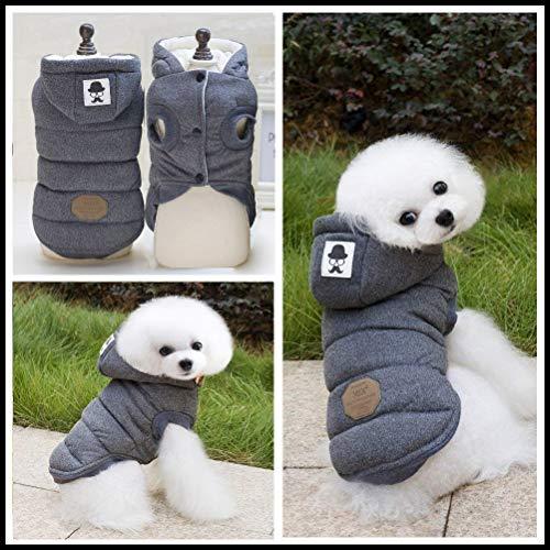 Dog Coat,Rdc Pet Dog Hoodie Warm Dog Apparel Winter Clothes Dog Cozy Jacket for Small Dog Medium Dog Cat (L, Grey)