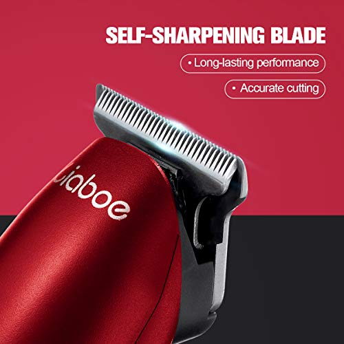Hair Clippers Men Cordless, Electric Hair Clippers for Men, Liaboe Professional Hair Trimmer Set Rechargeable Led Display 3 Speed Adjustment Hair Clippers with 4 Guide Combs, 2 Trimmer Heads, Brush