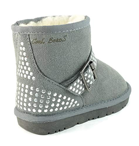 Picture of CooL BeanS Girls Winter Snow Boots Warm Sheep Fur, Genuine Leather (Toddler/Little Kid Size 12)