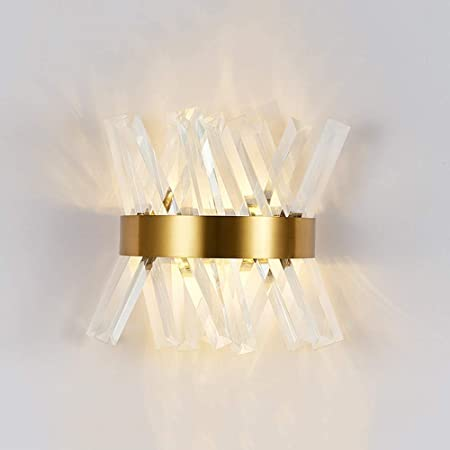 Amazon.com: TOMSSL Crystal Wall Lamp Light Nordic Modern ...