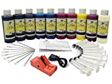 InkOwl - Complete Refill Kit for use in CANON PRO-10 printers (PGI-72 ink) - 10x120ml USA pigment ink plus the chip resetter