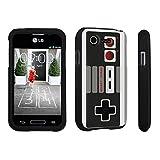 DuroCase ® LG L34C Optimus Fuel / LG Optimus Zone 2 VS415PP Hard Case Black – (Game Controller) Review