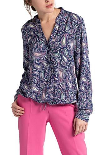 rosa Sleeve Modern Eterna Classic Long Azul Printed Blouse 0wwpt