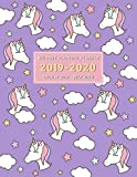 Student Academic Planner 2019-2020: Purple Unicorn Design School Assignment Organizer for Middle and High School Students - Keep Track of Your Daily, ... to July 2020 (2019-2020 Academic Planners)