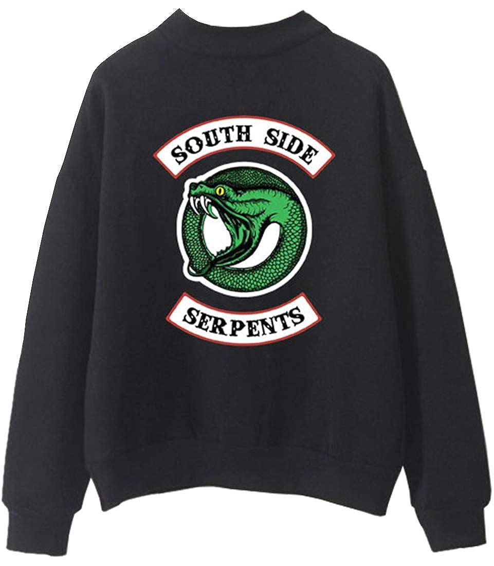 EMILYLE Femme Sweat-Shirt /à Col Montant Riverdale South Side Serpent