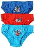 Boys PACK OF 3 Bing Bunny Rabbit Cotton Briefs Underpants sizes from 18 Months to 5 Years