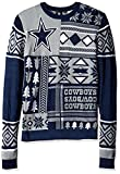 NFL Dallas Cowboys Patches Ugly Sweater, Blue, Small