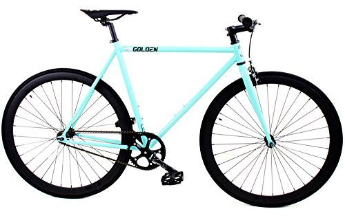 Golden Cycles Fixed Gear Bike Steel Frame with Deep V Rims-Collection, Striker, 55
