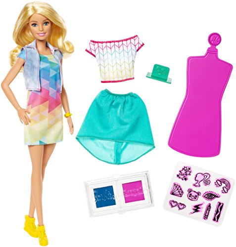 Barbie Crayola Color Stamp Fashions Set, Blonde