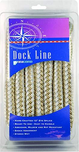 UNICORD 5407613 Braided Dock Line, 15' ()