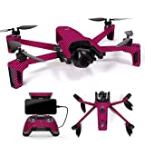 MightySkins Skin for Parrot Anafi Drone – Pink Carbon Fiber | Protective, Durable, and Unique Vinyl Decal wrap Cover | Easy to Apply, Remove, and Change Styles | Made in The USA For Sale