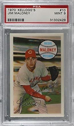 Amazoncom Jim Maloney Graded Psa 9 Mint Baseball Card 1970
