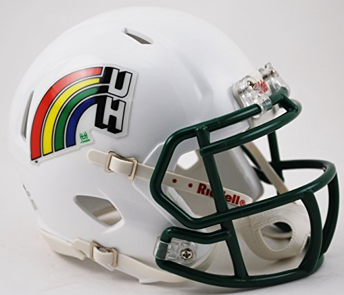 Warriors Hawaii Helmet (Riddell HAWAII WARRIORS NCAA Revolution SPEED Mini Football Helmet)