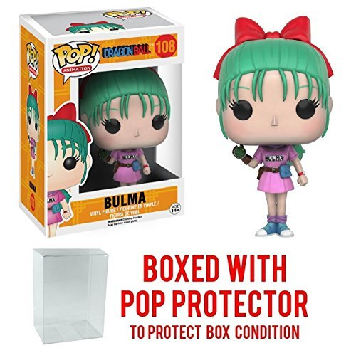 Funko Pop! Anime: Dragon Ball Z - Bulma Vinyl Figure (Bundled with Pop BOX PROTECTOR CASE)