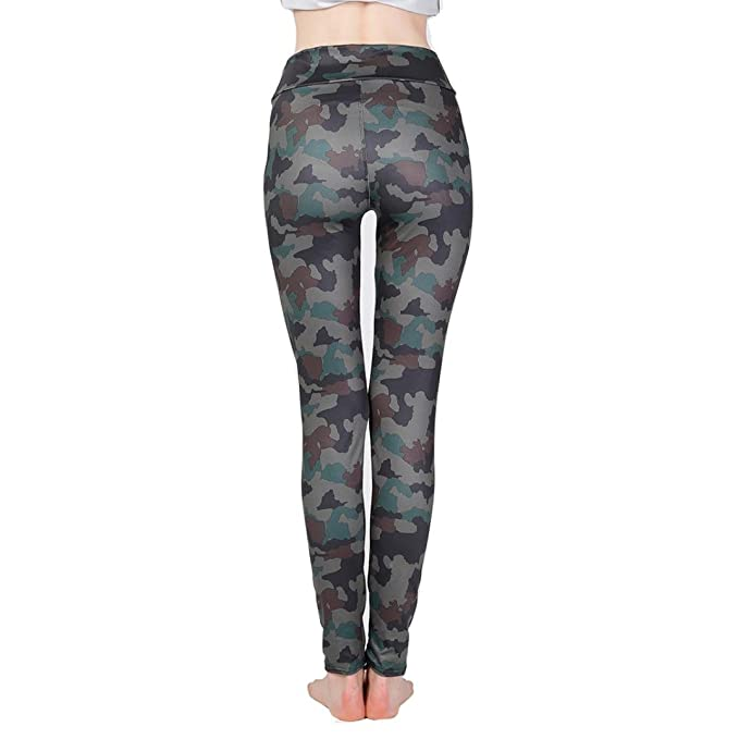 Hosen Camouflage Luckde Freizeit Elastic Tarnung Fitness Sport Damen 5wIqB