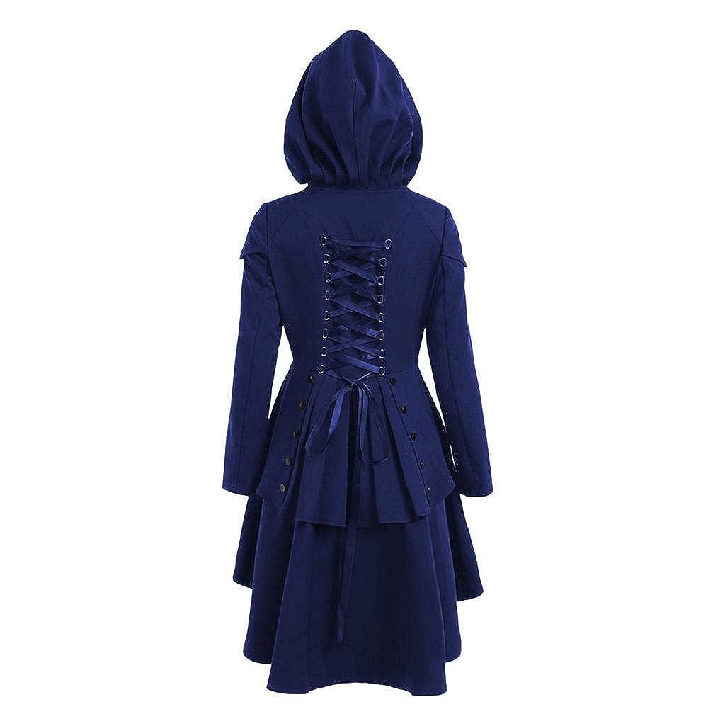 Damen Gothic Asymmetrisch Lange Frauen Mantel Saum Herbst nwkOP0