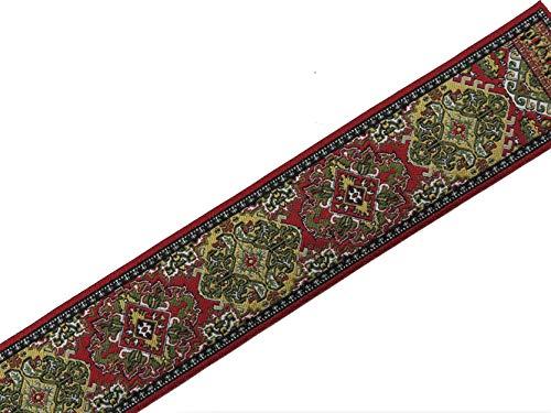 Melody Jane Dollhouse Woven Stair Carpet Runner Red & Green 1:12 Flooring