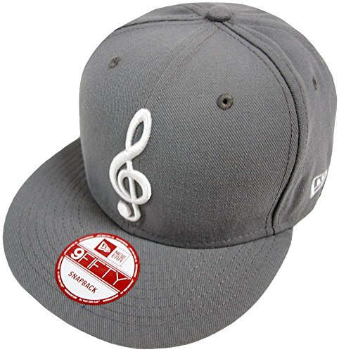 New Era Music Note Dark Grey Snapback Cap Kappe 9fifty Basecap Herren Mens -
