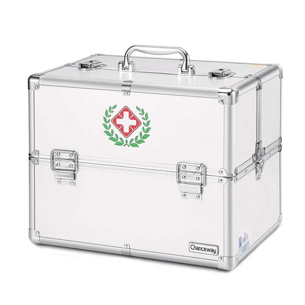 薬箱TZSMYX 大きい宇宙医学の箱の多層アルミ合金の薬箱多機能の救急箱 TYTZSM
