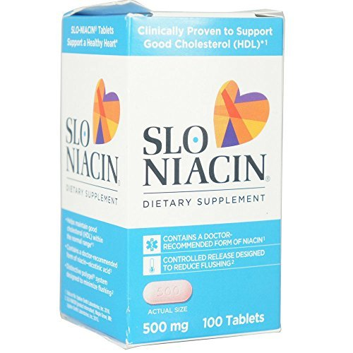 Slo-Niacin 500 mg 100 Tablets (Pack of 6)