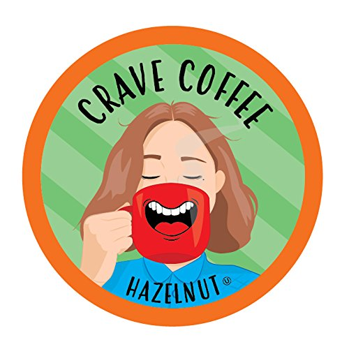 Crave Coffee Single-Cup Coffee for Keurig K-Cup Brewers, Hazelnut, 100 Count
