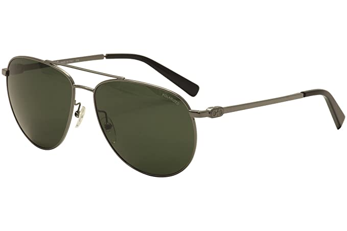 41214c1c59 Salvatore Ferragamo Men s SF 157S P 157 S 015 Gunmetal Aviator Sunglasses  60mm