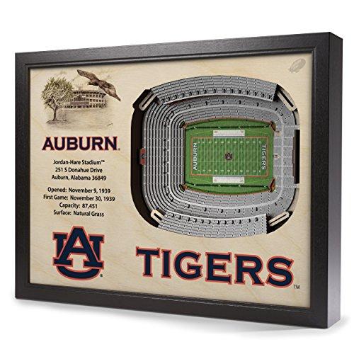 Hare Framed Print (NCAA Auburn Tigers - Jordan-Hare Stadium Wall Art)