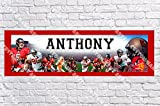 Personalized Tampa Bay Buccaneers Banner - Includes Color Border Mat, With Your Name On It, Party Door Poster, Room Art Decoration - Customize