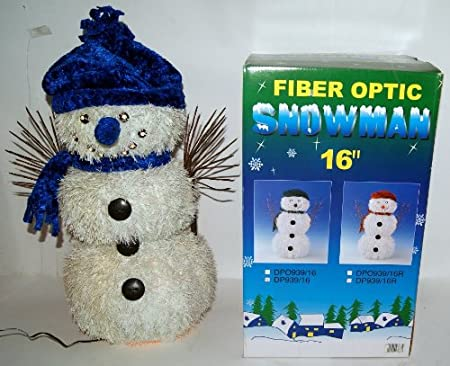 16 fibre optic snowman indoor light up christmas decoration display large