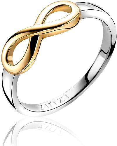 ANELLO UOMO DONNA FIDANZAMENTO INFINITO ORO GIALLO 750 18KT GOLD INFINITE RING