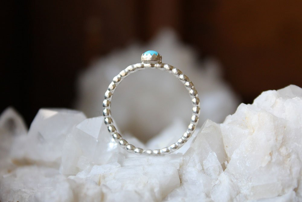 Turquoise Ring Small Sterling Silver