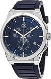 Calvin Klein Men's 'Dart' Swiss Quartz Stainless Steel and Rubber Casual Watch, Color:Blue (Model: K2S371VN)