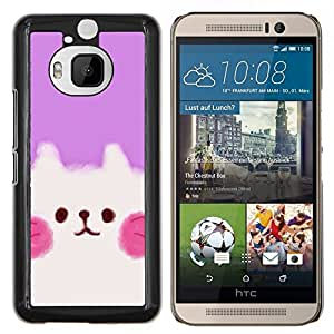Stuss Case / Funda Carcasa protectora - Cute Puppy Rosa Blanco - HTC One M9+ M9 Plus