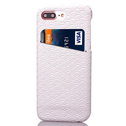 iPhone 7 Plus Funda piel PU Case Cover Carcasa Tapa trasera piel vegana premium con cartera para Apple iPhone 7 Plus original - Ultrafina con bolsillo tarjetero. E