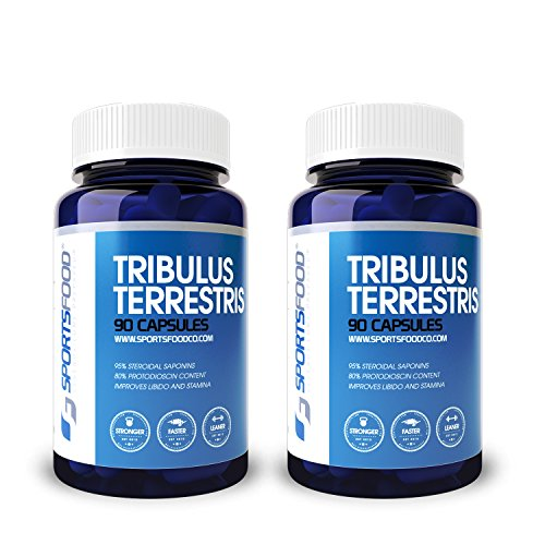2x Tribulus Terrestris 1000mg X 90 Capsules, 95% Steroidal Saponins, 80% Protodioscin (25% Bulk Savings)
