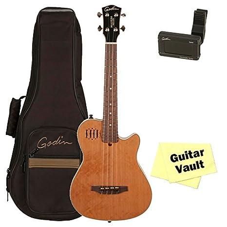 Godin Multiuke Natural HG (36080) guitarra electroacústica ukelele con bolsa de GODIN funda sintonizador, y paño de pulido: Amazon.es: Instrumentos ...