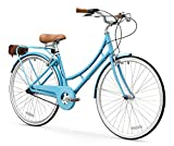 FIRTH SPORTS Nadine SE Women's Aluminum Step-Thru City Bike (Blue, 3 Speed/Medium)