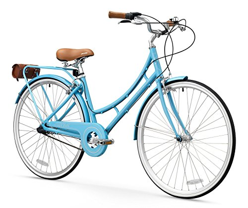 FIRTH SPORTS Nadine SE Women's Aluminum Step-Thru 7 Speed Hybrid City Bike