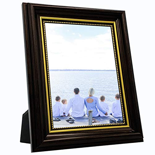 OIYEA 5x7 Picture Frames PS Materials,HD PVC Transparent Board with Family, Personal, Baby and Landscape Photos Bronze