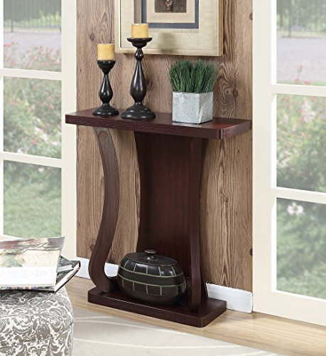 Newport Console - Convenience Concepts Newport Console Table, Mahogany