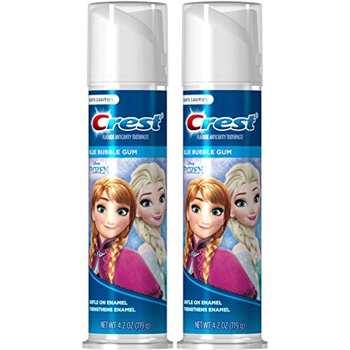 3 Pack Disney's Frozen Crest Kid's Toothpaste, Blue Bubble G