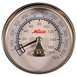 Milton 1191 Pressure Gauge 1/4 In NPT Center Back Mount 0-160 PSI