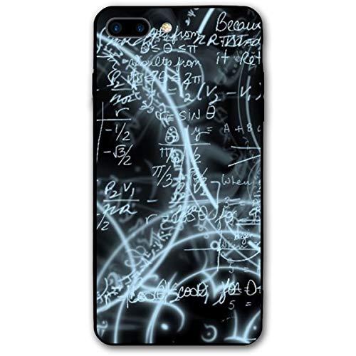 Xianjing iPhone 7 Plus Case/iPhone 8 Plus Case Math Anti-Scratch PC Rubber Cover Lightweight Slim Printed Protective Case ()
